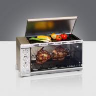 Steba G80/31C4-D A BBQ és grillsütő, pezsgő metál színben