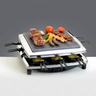 Steba RC3PLUS C Raclette + kőlap és fém grill, króm dizájn